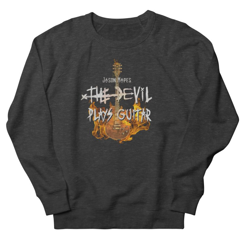 Jason Mapes The Devil Plays Guitar Logo Men's French Terry Sweatshirt by Jason Mapes Online Swag Shop