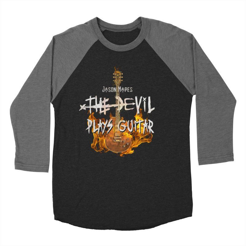 Jason Mapes The Devil Plays Guitar Logo Men's Baseball Triblend Longsleeve T-Shirt by Jason Mapes Online Swag Shop