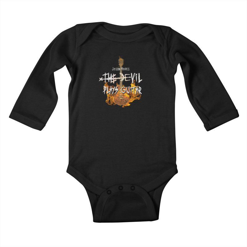 Jason Mapes The Devil Plays Guitar Logo Kids Baby Longsleeve Bodysuit by Jason Mapes Online Swag Shop