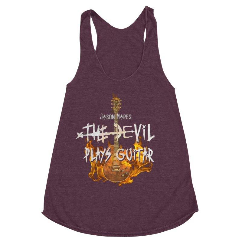 Jason Mapes The Devil Plays Guitar Logo Women's Racerback Triblend Tank by Jason Mapes Online Swag Shop