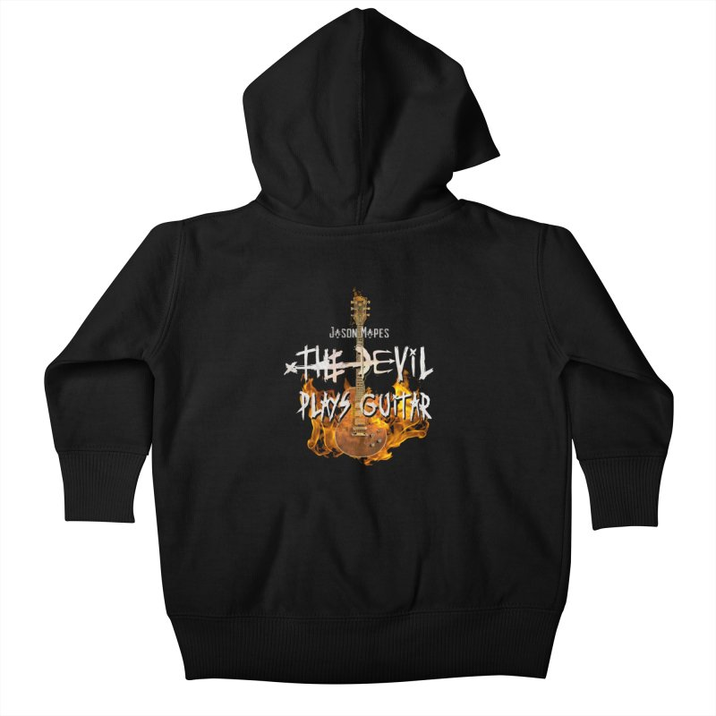 Jason Mapes The Devil Plays Guitar Logo Kids Baby Zip-Up Hoody by Jason Mapes Online Swag Shop