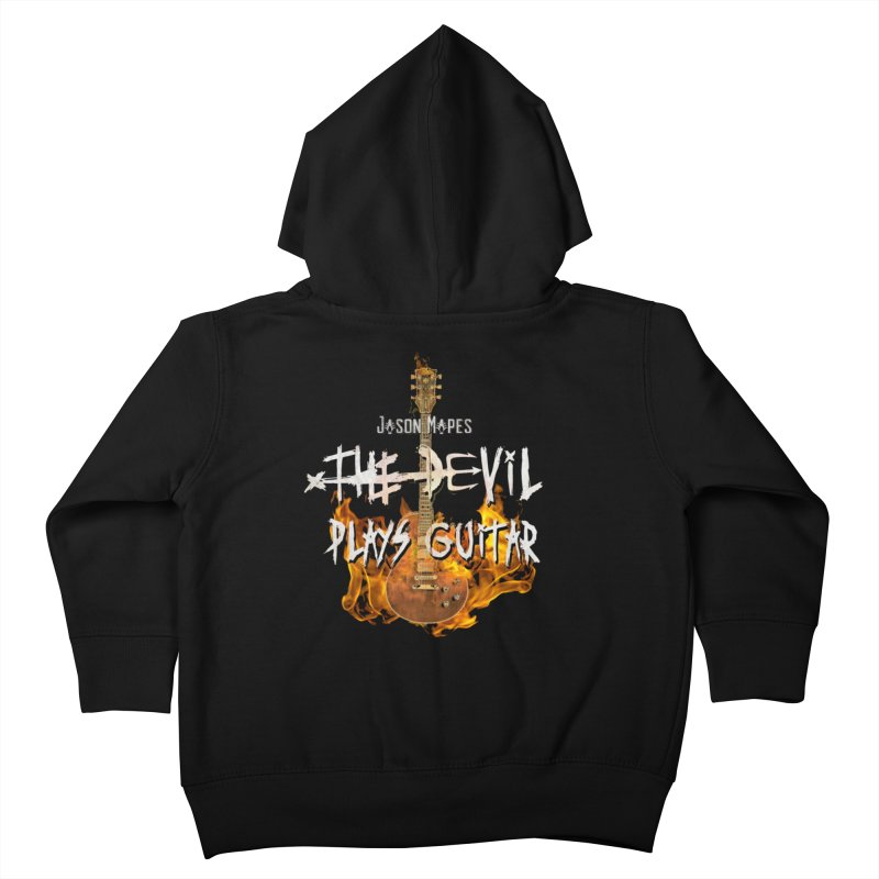 Jason Mapes The Devil Plays Guitar Logo Kids Toddler Zip-Up Hoody by Jason Mapes Online Swag Shop