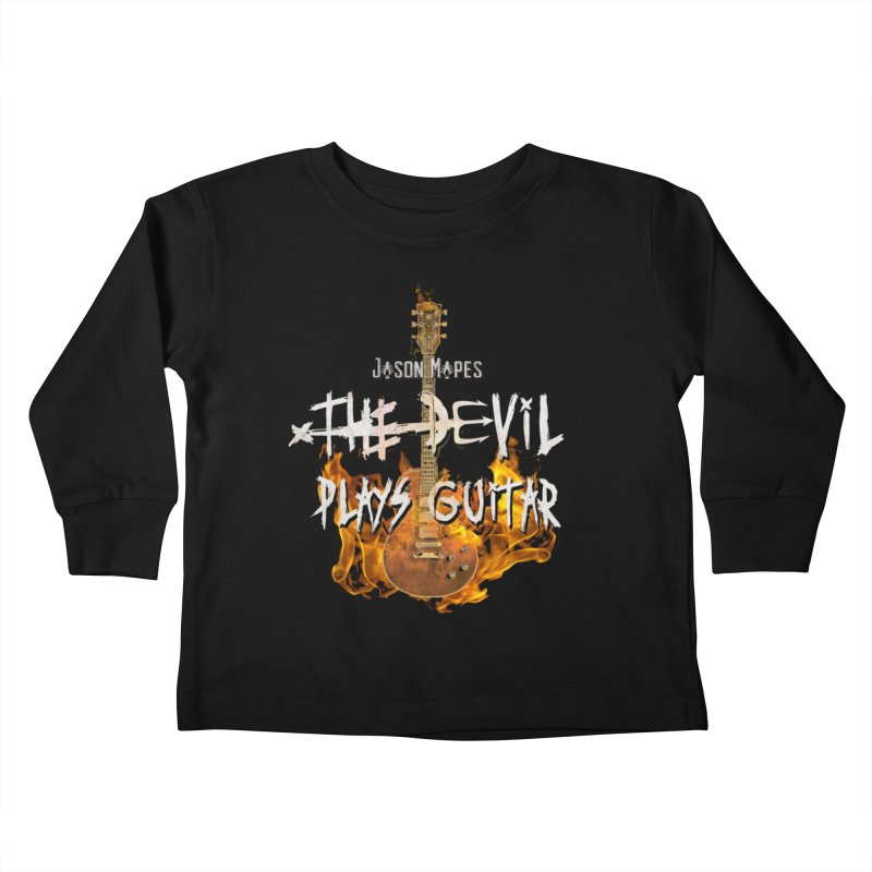 Jason Mapes The Devil Plays Guitar Logo Kids Toddler Longsleeve T-Shirt by Jason Mapes Online Swag Shop