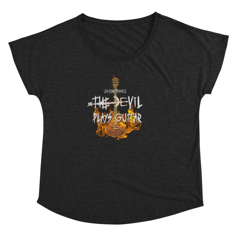 Jason Mapes The Devil Plays Guitar Logo Women's Dolman Scoop Neck by Jason Mapes Online Swag Shop