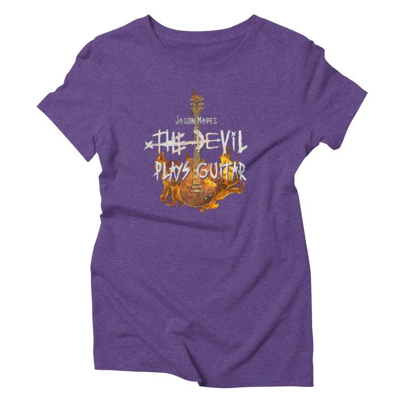 Jason Mapes The Devil Plays Guitar Logo Women's Triblend T-Shirt by Jason Mapes Online Swag Shop