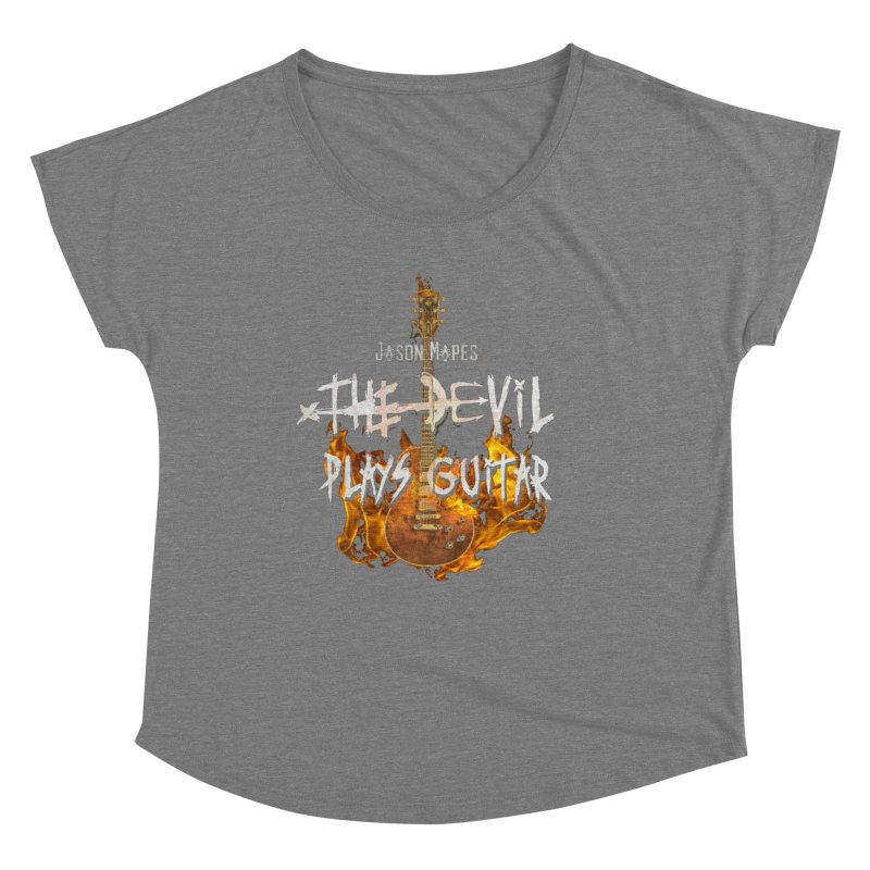 Jason Mapes The Devil Plays Guitar Logo Women's Scoop Neck by Jason Mapes Online Swag Shop