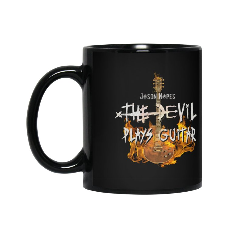 Jason Mapes Devil Plays Guitar Flame Logo Mug Accessories Mug by Jason Mapes Online Swag Shop