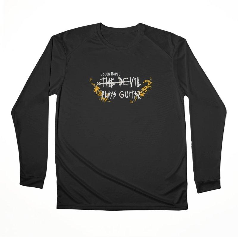 Subtle Flaming Logo Men's Longsleeve T-Shirt by Jason Mapes Online Swag Shop