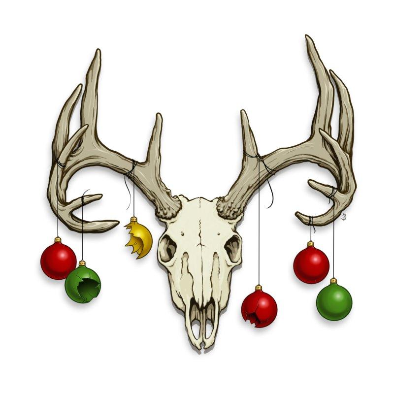 Holiday Reindeer Skull Men's Tank by jasonmartian's Artist Shop