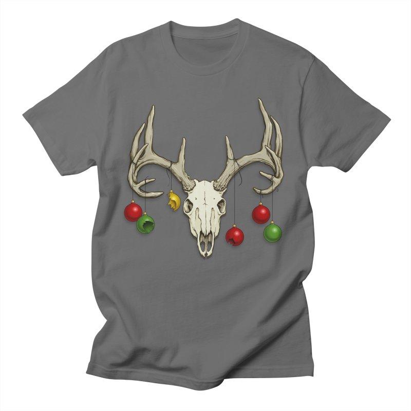 Holiday Reindeer Skull Men's T-Shirt by The Artist Shop of Jason Martian