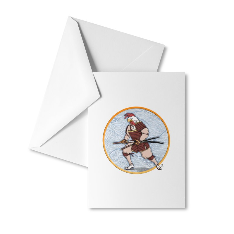 Samurai Rooster Accessories Greeting Card by The Artist Shop of Jason Martian