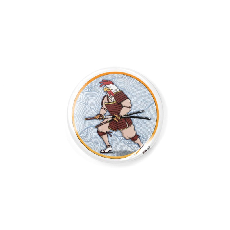 Samurai Rooster Accessories Button by The Artist Shop of Jason Martian