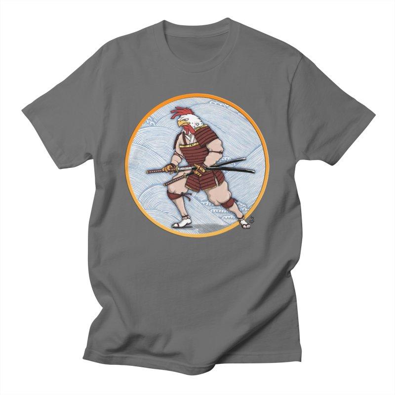 Samurai Rooster Men's T-Shirt by The Artist Shop of Jason Martian