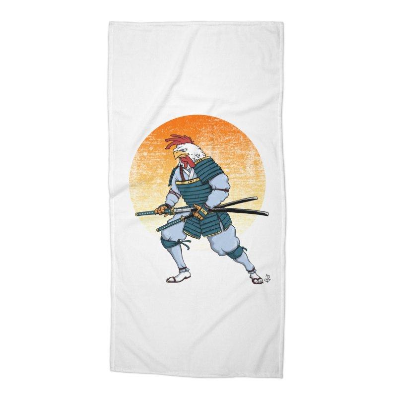 Samurai Rooster B Accessories Beach Towel by The Artist Shop of Jason Martian