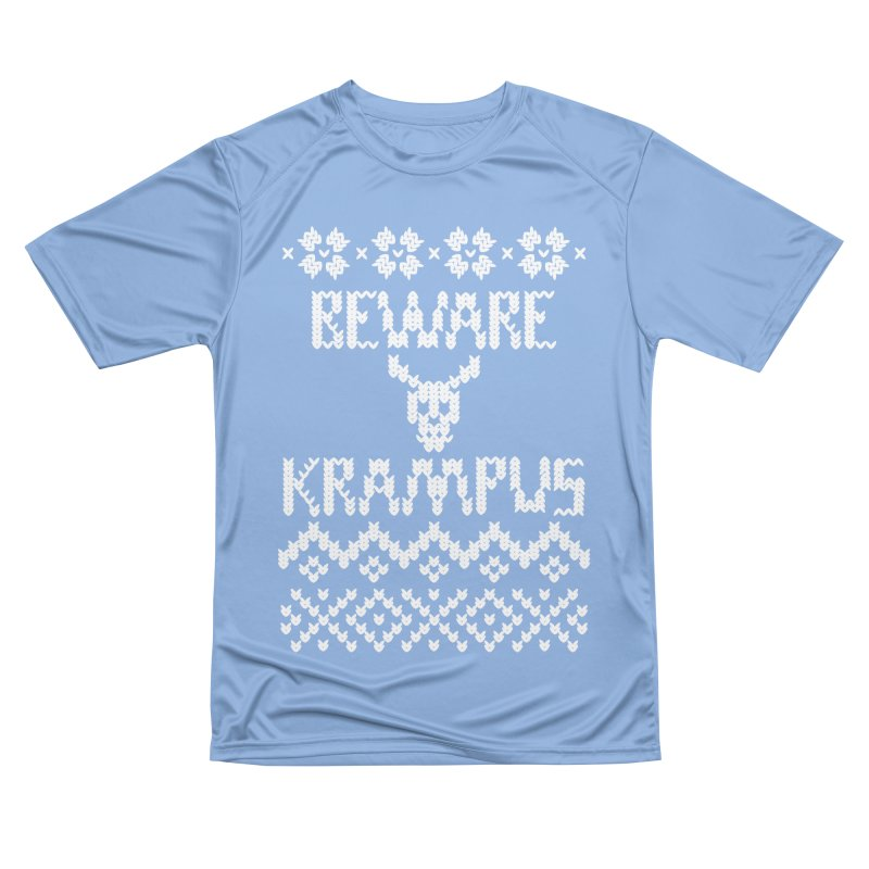 Beware Krampus White print Men's T-Shirt by jasonmartian's Artist Shop