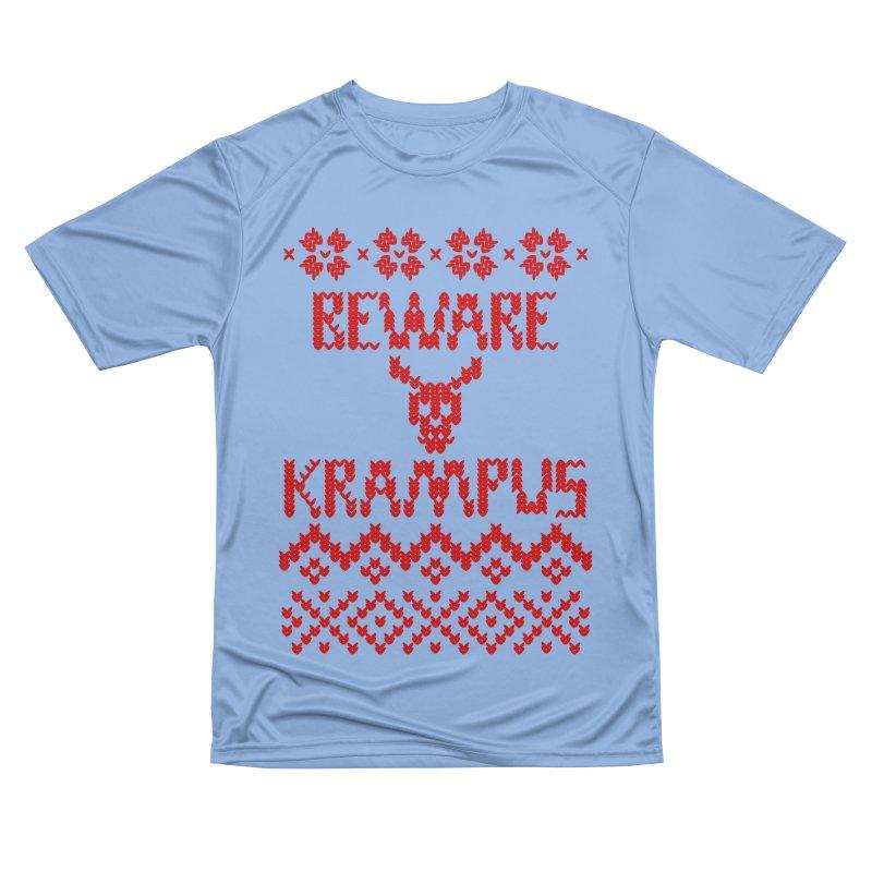 BEWARE KRAMPUS ugly sweater Red Men's T-Shirt by jasonmartian's Artist Shop