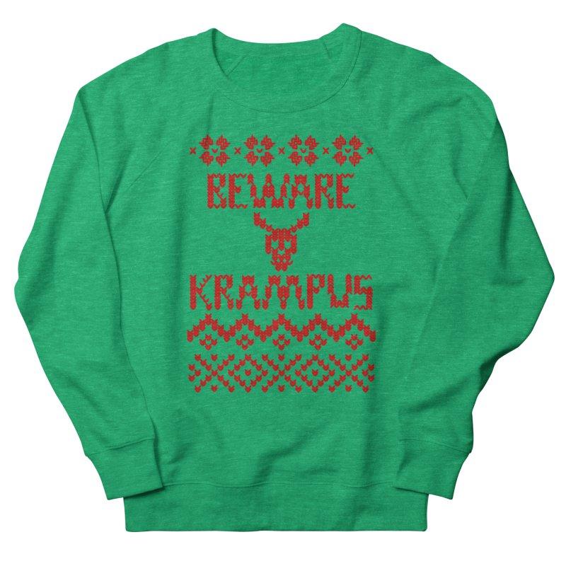BEWARE KRAMPUS ugly sweater Red Women's Sweatshirt by jasonmartian's Artist Shop