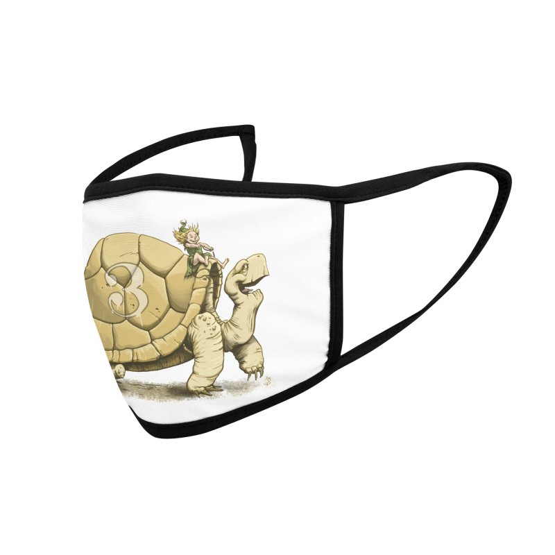 Tortoise #3 Accessories Face Mask by The Artist Shop of Jason Martian