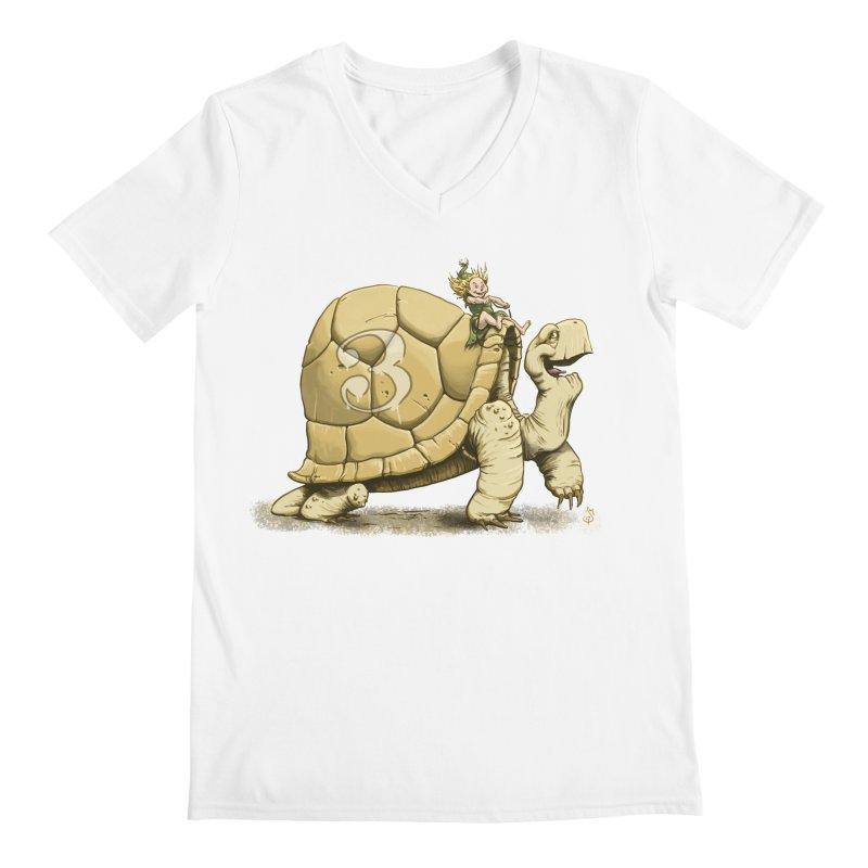 Tortoise #3 Men's V-Neck by The Artist Shop of Jason Martian