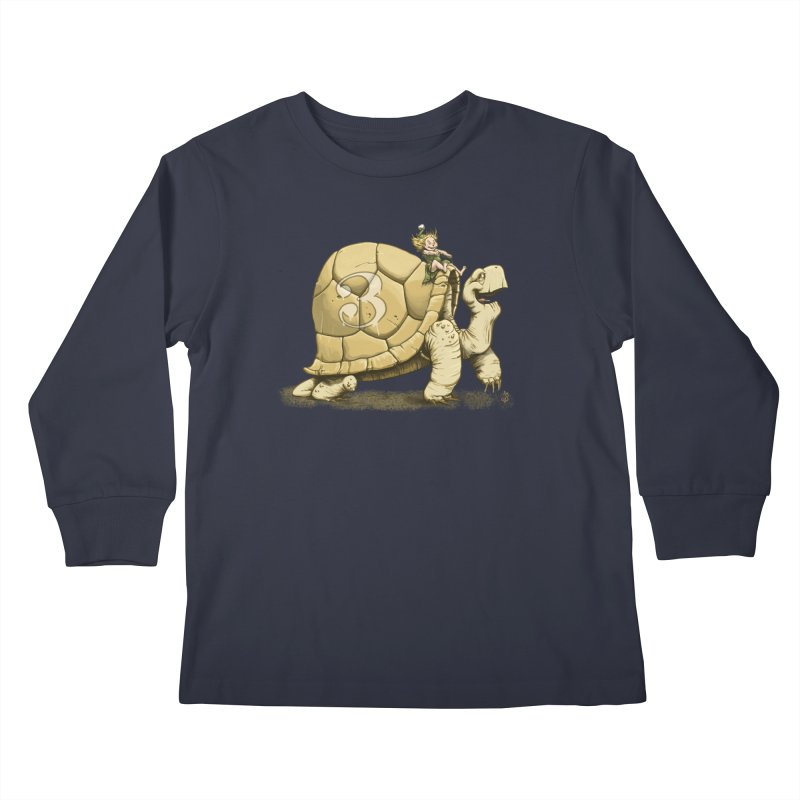 Tortoise #3 Kids Longsleeve T-Shirt by jasonmartian's Artist Shop