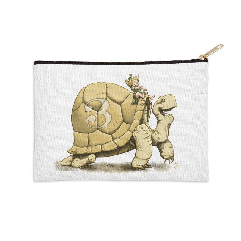 Tortoise #3 Accessories Zip Pouch by The Artist Shop of Jason Martian