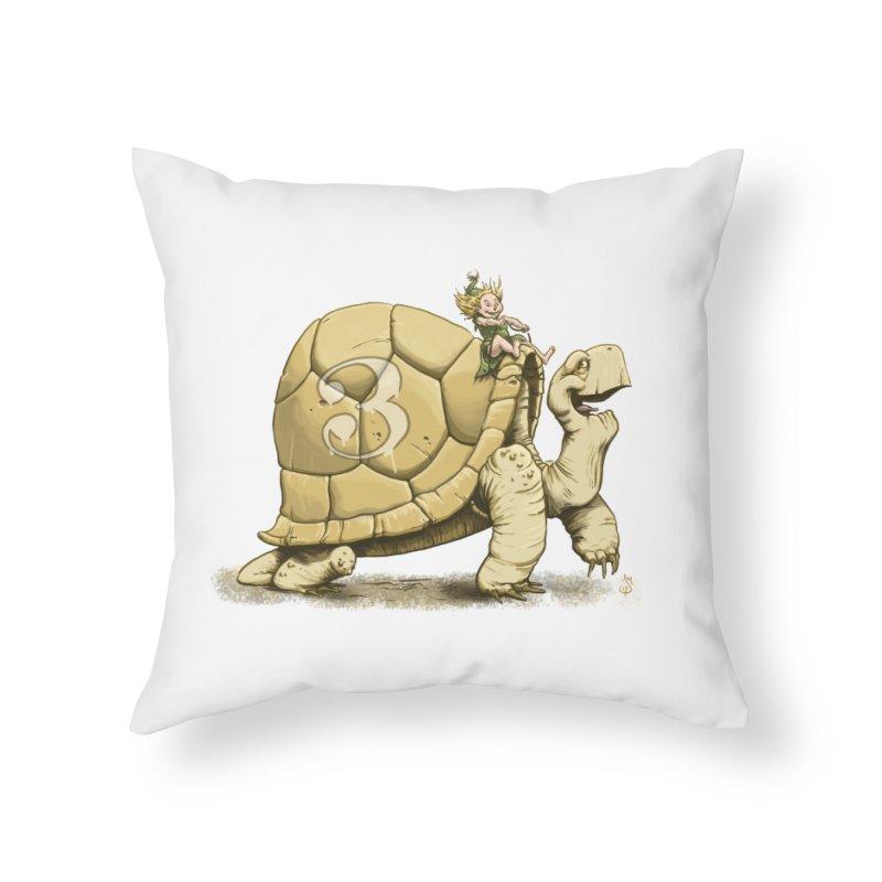 Tortoise #3 Home Throw Pillow by The Artist Shop of Jason Martian