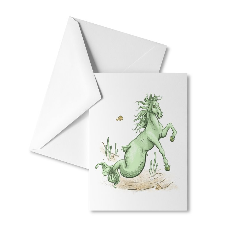 Sea Horse Accessories Greeting Card by The Artist Shop of Jason Martian