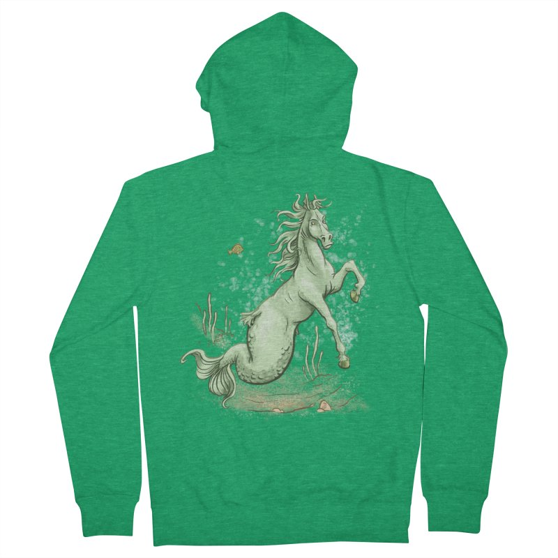 Sea Horse Men's Zip-Up Hoody by The Artist Shop of Jason Martian