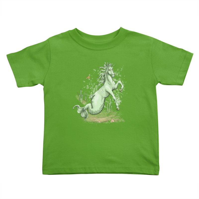 Sea Horse Kids Toddler T-Shirt by The Artist Shop of Jason Martian