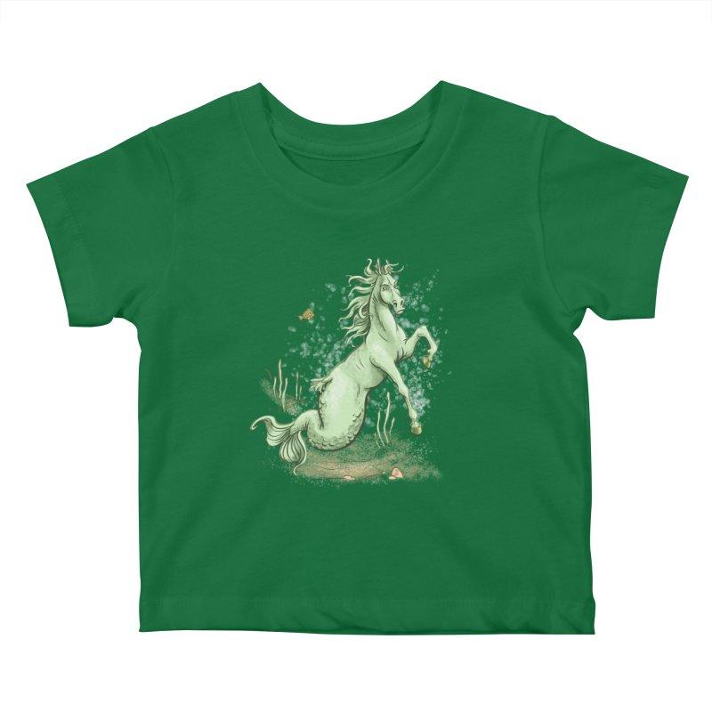 Sea Horse Kids Baby T-Shirt by The Artist Shop of Jason Martian
