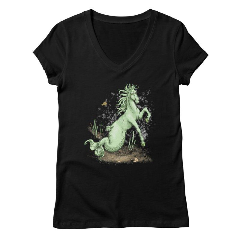 Sea Horse Women's V-Neck by The Artist Shop of Jason Martian