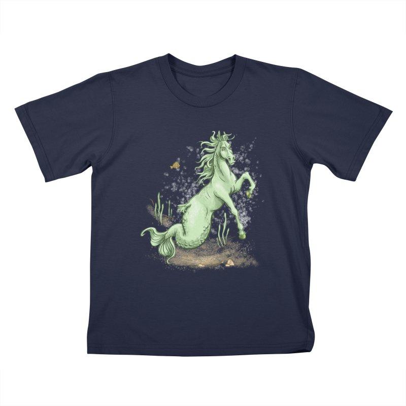 Sea Horse Kids T-Shirt by The Artist Shop of Jason Martian
