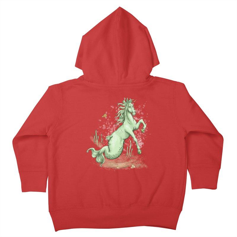 Sea Horse Kids Toddler Zip-Up Hoody by The Artist Shop of Jason Martian