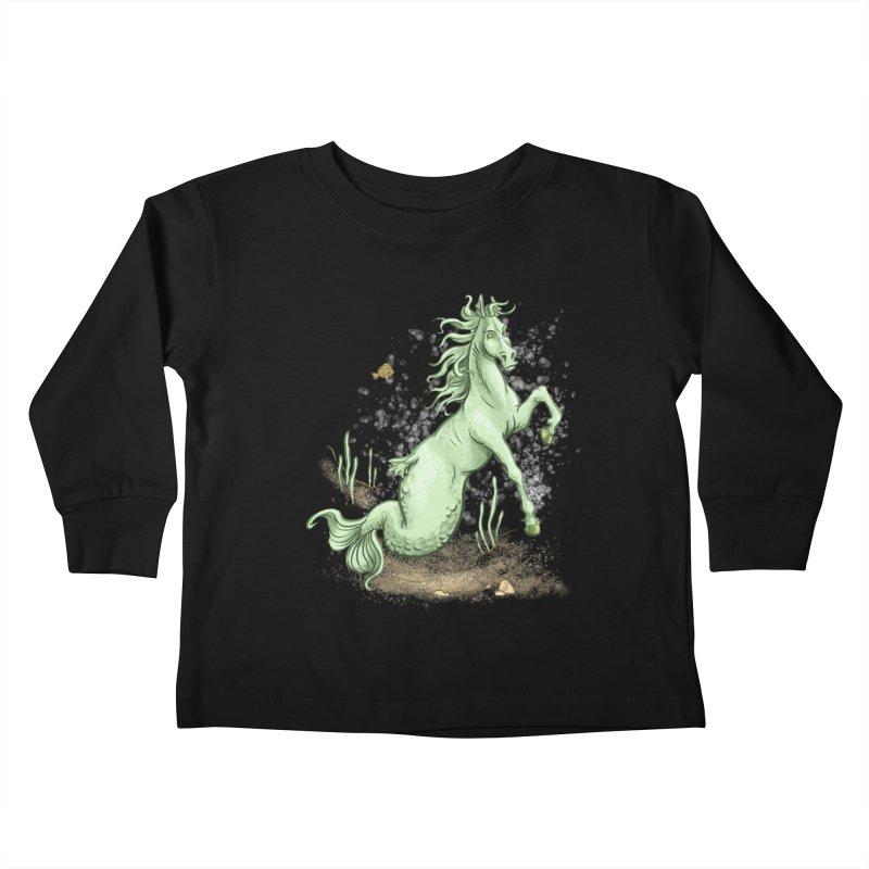 Sea Horse Kids Toddler Longsleeve T-Shirt by The Artist Shop of Jason Martian