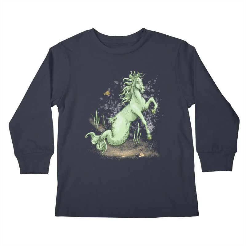 Sea Horse Kids Longsleeve T-Shirt by jasonmartian's Artist Shop