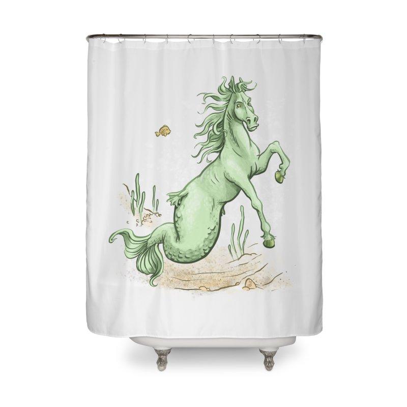 Sea Horse Home Shower Curtain by The Artist Shop of Jason Martian