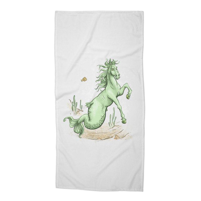 Sea Horse Accessories Beach Towel by The Artist Shop of Jason Martian