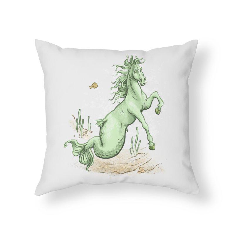Sea Horse Home Throw Pillow by The Artist Shop of Jason Martian