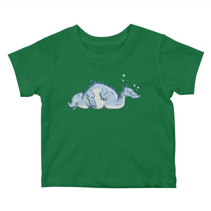 Sea Serpent Kids Baby T-Shirt by The Artist Shop of Jason Martian
