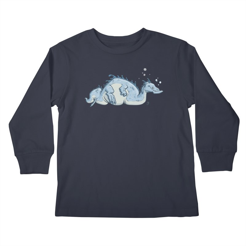 Sea Serpent Kids Longsleeve T-Shirt by The Artist Shop of Jason Martian