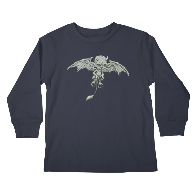 A Familiar Imp Kids Longsleeve T-Shirt by jasonmartian's Artist Shop