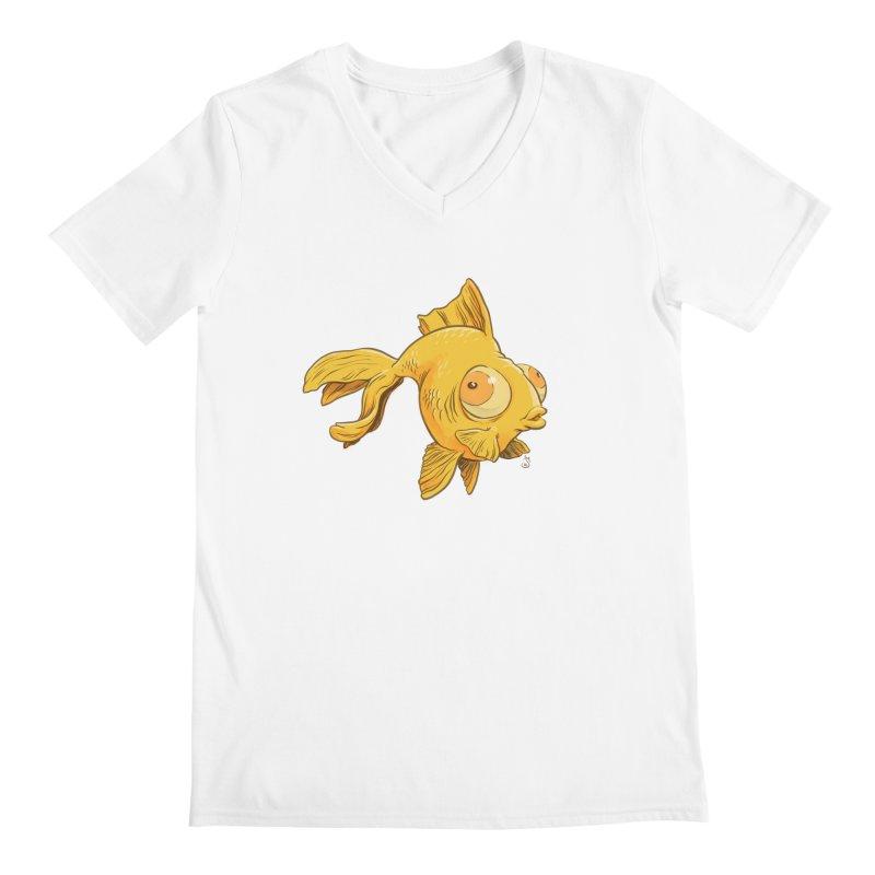 Goldfish Men's V-Neck by The Artist Shop of Jason Martian