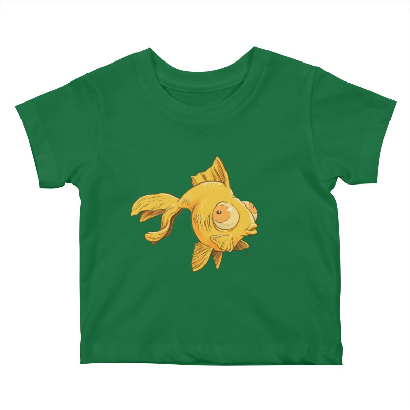Goldfish Kids Baby T-Shirt by The Artist Shop of Jason Martian
