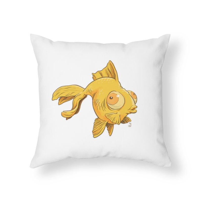 Goldfish Home Throw Pillow by The Artist Shop of Jason Martian