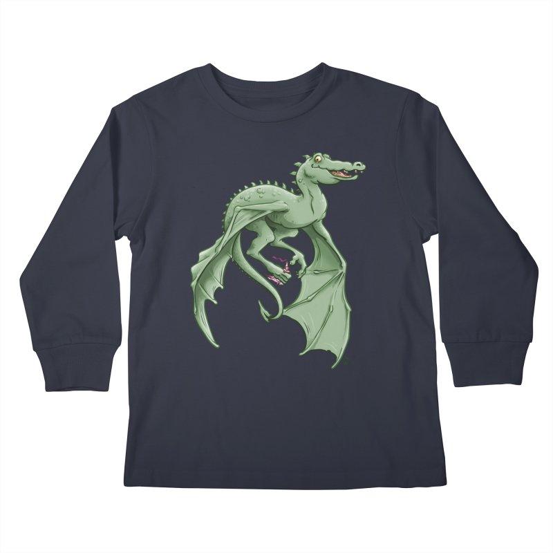 Dragon's Prize Kids Longsleeve T-Shirt by The Artist Shop of Jason Martian