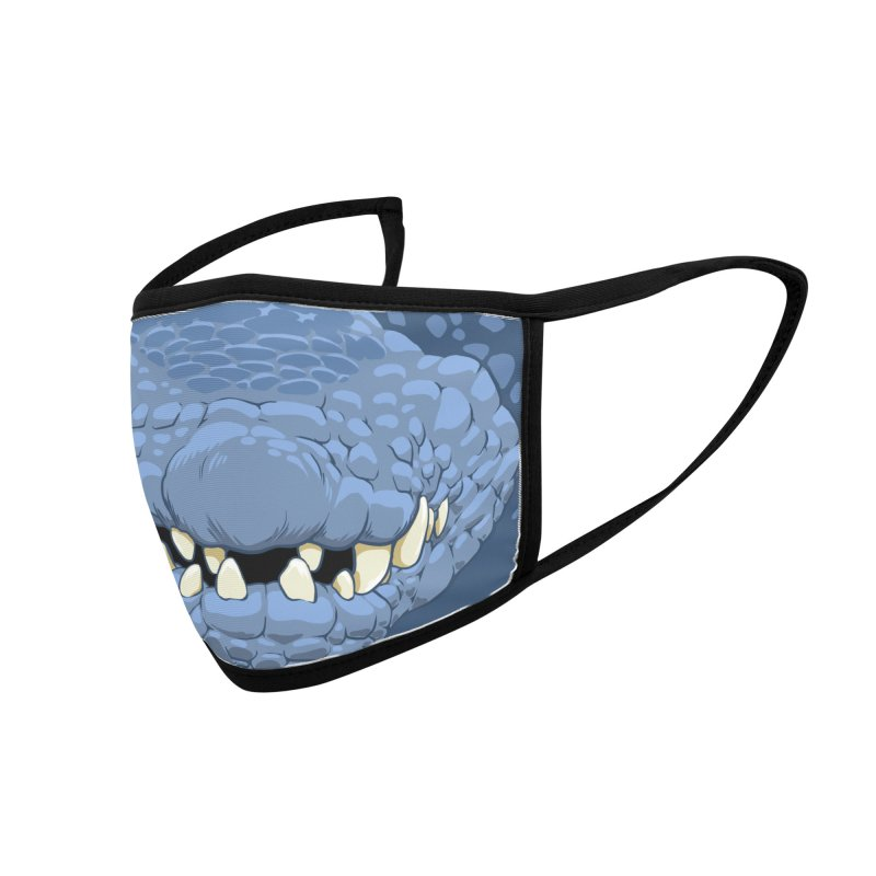 Gator Mask - Blue Accessories Face Mask by The Artist Shop of Jason Martian