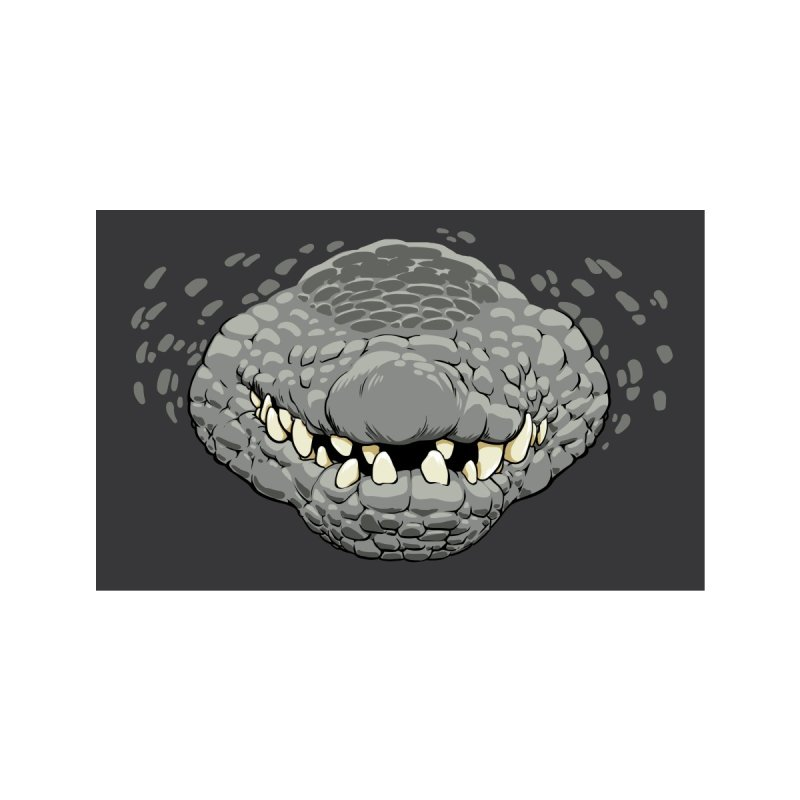 Gator Mask - Grey Accessories Face Mask by jasonmartian's Artist Shop