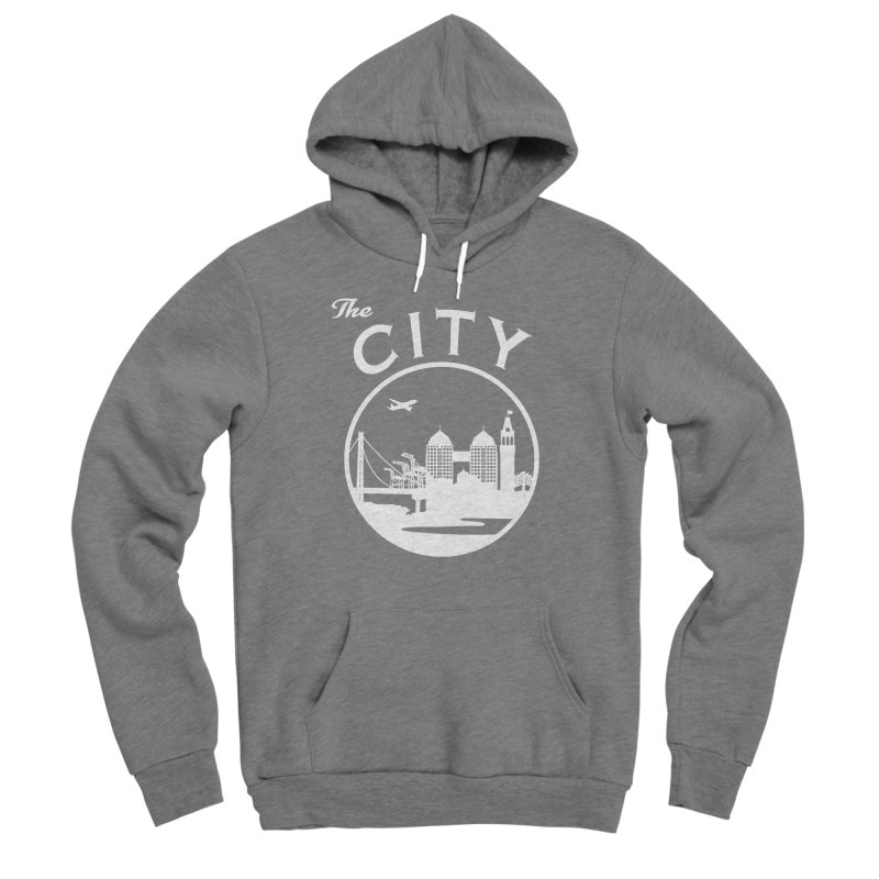 THE CITY of Oakland (white) Men's Pullover Hoody by The Artist Shop of Jason Martian