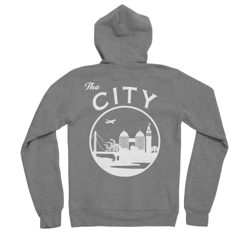 THE CITY of Oakland (white) Women's Zip-Up Hoody by The Artist Shop of Jason Martian