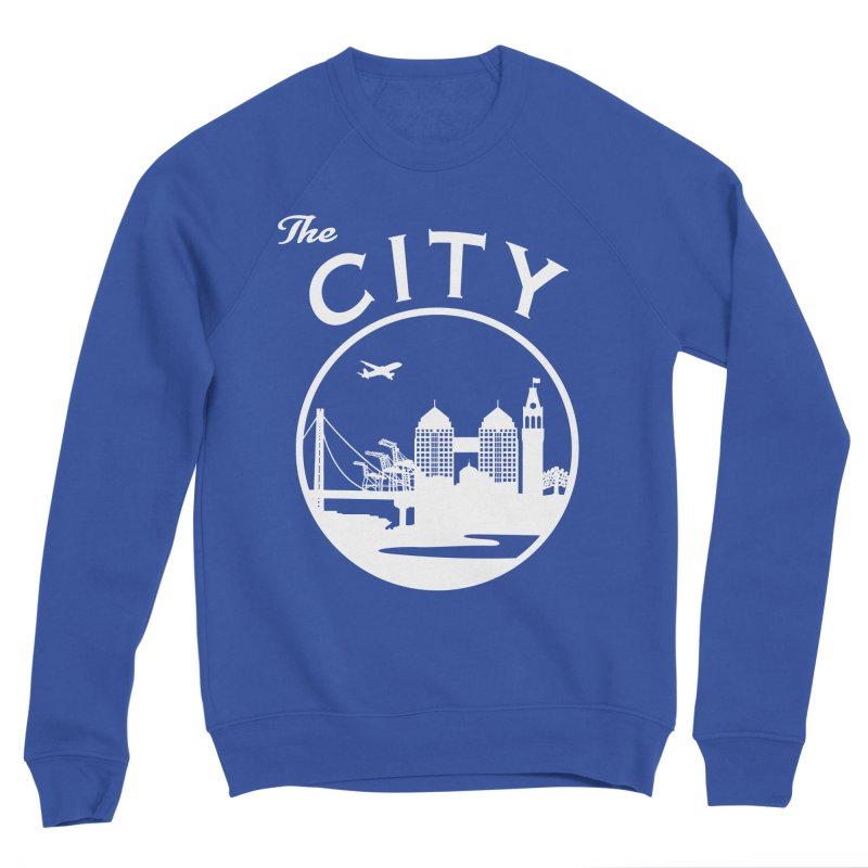 THE CITY of Oakland (white) Men's Sweatshirt by The Artist Shop of Jason Martian